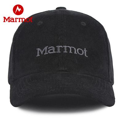 Marmot/土撥鼠戶外休閑可調松緊遮陽帽曜石黑001