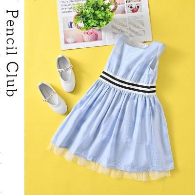 鉛筆俱樂部童裝2020夏裝新款女童背心連衣裙中大童裙子兒童條紋裙