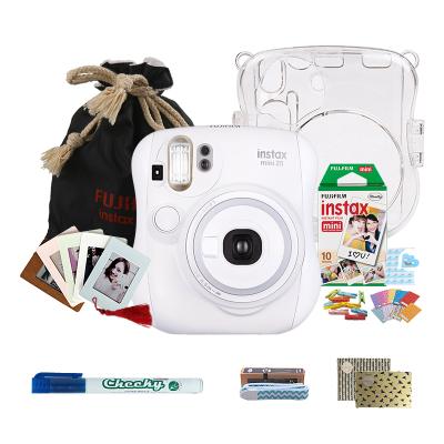 富士(FUJIFILM)INSTAX 一次成像胶片相机 mini25相机 白色 实用套餐(含10张富士小尺寸胶片)