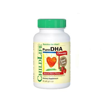 3瓶装|童年时光 婴幼儿童DHA鱼油胶囊 90粒 6个月-12岁+Earth's Best有机高铁大米米粉