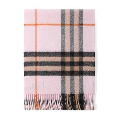 BURBERRY 博柏利 男女通用款格纹羊绒围巾