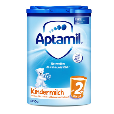 【官方授权】(新包装)Aptamil 德国爱他美 婴幼儿配方奶粉2+段(2岁以上)800g/罐 保税区发货