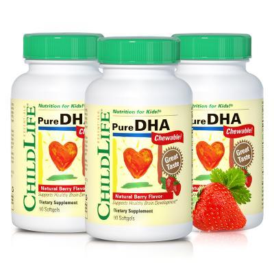 美国童年时光 婴幼儿DHA鱼油胶囊 90粒*3瓶+保宁 婴儿天然抗菌甘菊洗衣皂 200g