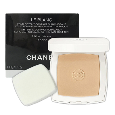 香奈儿(CHANEL) 珍珠光感轻透光粉饼12g#10 SPF25 PA+++ 定妆 遮瑕 各种肤质