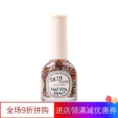 【苏宁优选】skinfood思亲肤维生素阿尔法指甲油美甲护甲水润韩国 AGL03