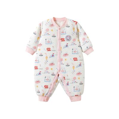 哈贝比(happyB)婴儿连体衣春秋季外出衣服男女宝宝新生儿纯棉长袖爬爬服