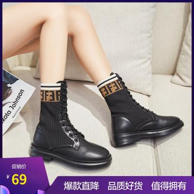 达芙妮秋冬季新款时尚马丁靴加绒女靴202007517