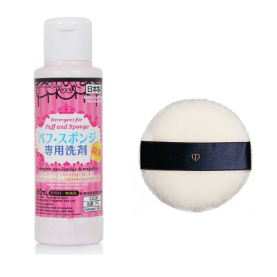 日本大创(daiso)粉扑清洗剂 化妆棉化妆刷专用清洗剂 +cpb粉扑