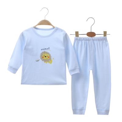 亿婴儿 纯棉婴儿衣服肩开扣内衣套装新生儿衣服睡衣宝宝四季秋衣秋裤2126