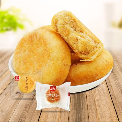 6元包邮 友臣 肉松饼/香菇饼组合 15枚/500g