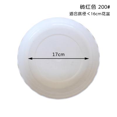 津沽园艺 花边白托盘 200mm 1个