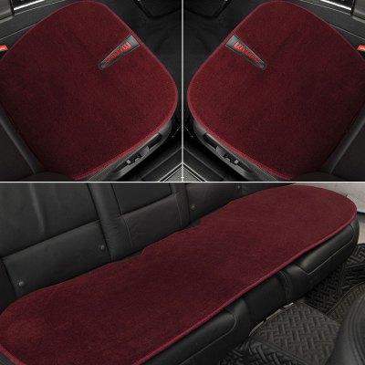 恒源祥纯羊毛汽车座垫保暖新款羊毛垫子丰田霸道奥迪宝马5系通用汽车坐垫三件套