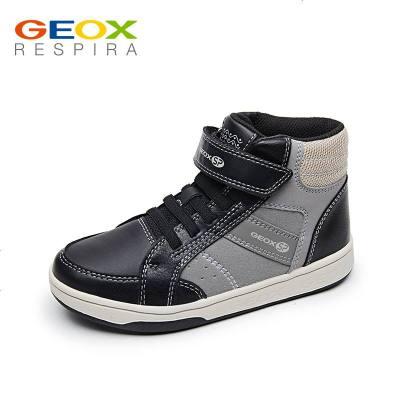 GEOX/健乐士儿童运动鞋男童秋冬高帮透气板鞋防滑耐磨撞色J84G3C