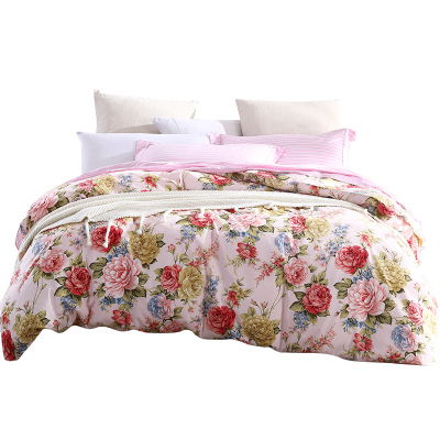 梦洁(MENDALE)家纺mee出品纯棉磨毛印花四件套床单被套枕套可选