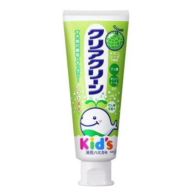 日本KAO 花王婴幼儿童可吞咽食用牙膏水果味70g 哈蜜瓜味