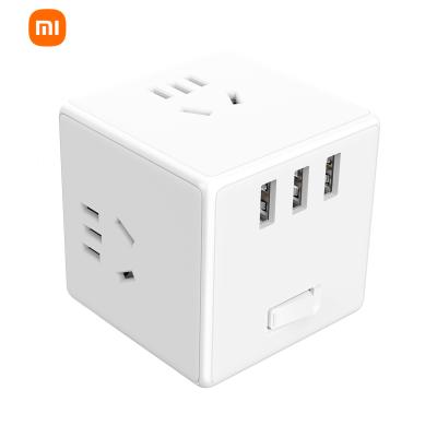 小米 米家魔方转换器插座 无线版 3USB 智能插座 插排插线板接线板多功能家用电源转换器无线版