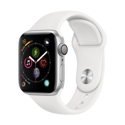 Apple Watch Series4 智能手表( GPS款 44毫米 银色铝金属表壳搭配白色运动型表带)