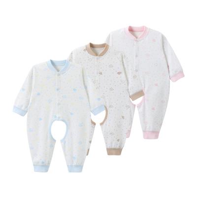 哈贝比(happyB) 婴儿衣服婴儿连体衣长袖新生儿服开档纯棉哈衣新生儿爬爬服0-1岁