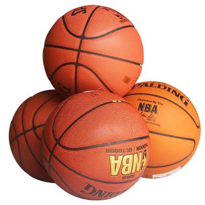 斯伯丁(SPALDING)篮球7号NBA蓝球 次品球 非新球 9成新 型号随机 能正常使用 部分篮球轻微漏气 出售不退换