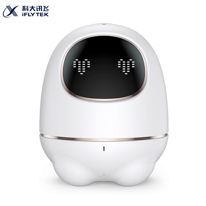 科大讯飞iFLYTEK机器人 阿尔法小蛋智能机器人早教益智陪伴语音对话故事机儿童玩具 白色 材质PVC 翻译蛋
