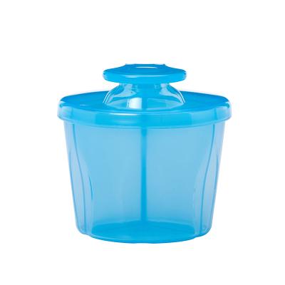 布朗博士 奶粉盒储奶盒独立分格储奶外出轻巧便携 蓝色