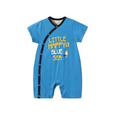 哈贝比(happyB)婴儿连体衣夏季薄款宝宝哈衣夏季纯棉外出运动爬爬服