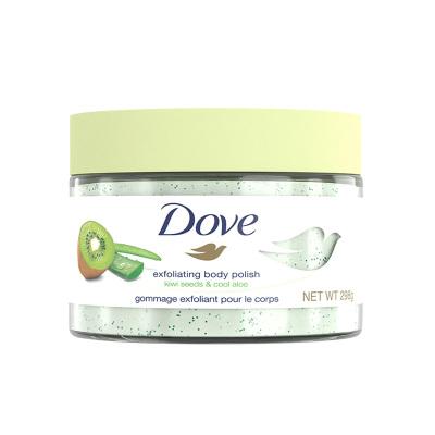 多芬(Dove)冰激凌身体磨砂膏乳霜 奇异果籽和清凉芦荟298g 全身去角质去鸡皮 滋润保湿 搓泥宝