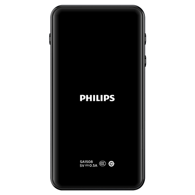 飞利浦(Philips)SA1508MP3小型随身听学生版便携式蓝牙音乐播放器小巧外放 AB复读