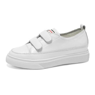 马克华菲女小白鞋女鞋女休闲小白鞋牛皮夏季小白鞋女款板鞋内增高休闲鞋子