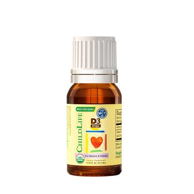 童年时光 有机维生素D3滴剂 3.1ml 宝宝vd 婴幼儿营养素 宝宝儿童维生素D滴剂 美国进口 15天以上
